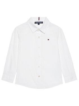 Tommy Hilfiger Tommy Hilfiger Marškiniai Solid Poplin KB0KB06965 M Balta Slim Fit