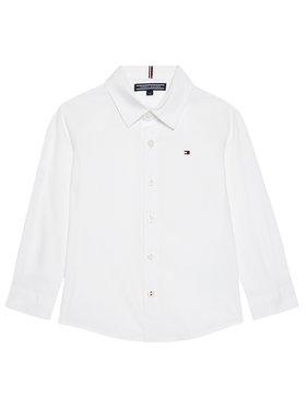 Tommy Hilfiger Tommy Hilfiger Риза Solid Poplin KB0KB06965 M Бял Slim Fit