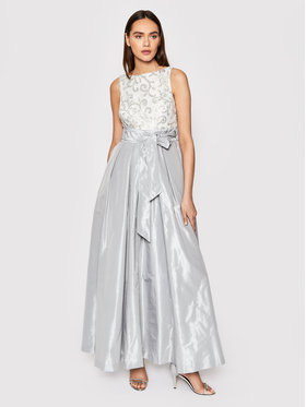 Lauren Ralph Lauren Lauren Ralph Lauren Sukienka wieczorowa Long Gown 253831048001 Szary Regular Fit