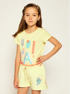 Billieblush Billieblush Bavlnené šortky U14371 Žltá Regular Fit