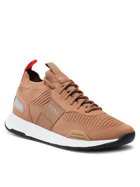 Boss Boss Sneakersy Titanium 50452034 10232616 01 Hnědá