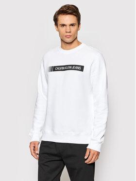 Calvin Klein Jeans Calvin Klein Jeans Mikina J30J318796 Biela Regular Fit