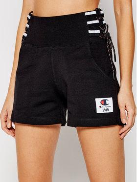 Champion Champion Pantaloni scurți sport Lace Up Side Sweat 112896 Negru Custom Fit