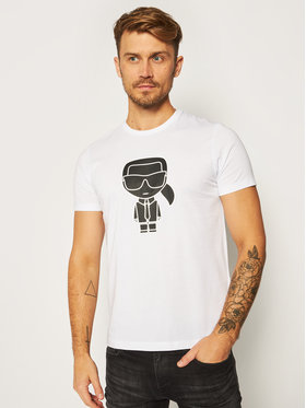 KARL LAGERFELD KARL LAGERFELD T-Shirt Crewneck 755080 502224 Bílá Regular Fit