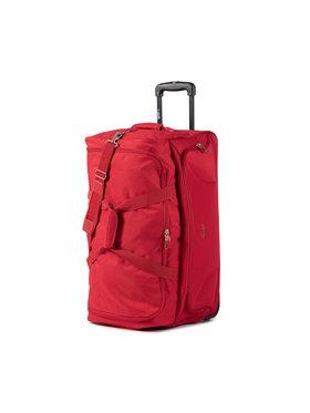 Dielle Dielle Veľký textilný kufor 476 Červená