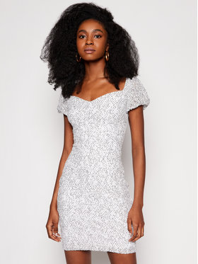 Guess Guess Rochie cocktail W1GK0R KAM20 Alb Slim Fit