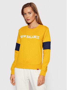 New Balance New Balance Bluza Classic Crew WT13807 Żółty Relaxed Fit