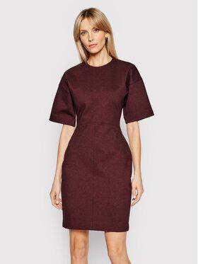 Victoria Victoria Beckham Victoria Victoria Beckham Džemper haljina Ponti 2221JDR002477A Tamnocrvena Slim Fit