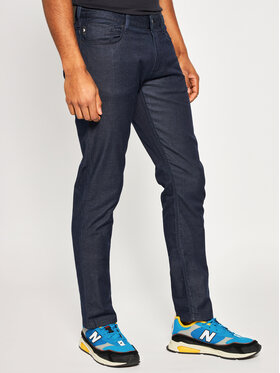 Emporio Armani Emporio Armani Spodnie materiałowe 8N1J06 1D0KZ 0941 Granatowy Slim Fit