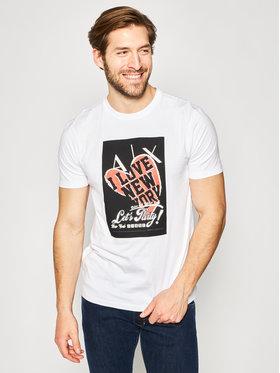 Armani Exchange Armani Exchange T-Shirt 3HZTLF ZJBVZ 1100 Weiß Regular Fit