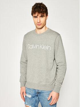 Calvin Klein Calvin Klein Majica dugih rukava Logo K10K104059 Siva Regular Fit