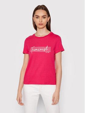 Vero Moda Vero Moda T-Shirt Feminist 10262918 Różowy Regular Fit