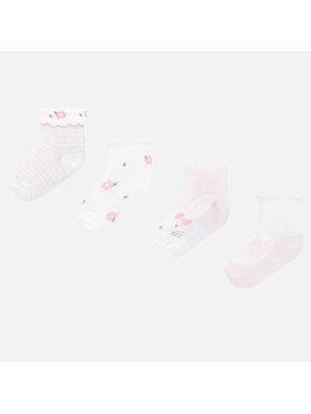 Mayoral Mayoral Sada 4 párů dětských vysokých ponožek 9245 Růžová