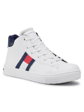 Tommy Hilfiger Tommy Hilfiger Sneakersy High Top Lace-Up Sneaker T3B4-30925-1031 S Biały