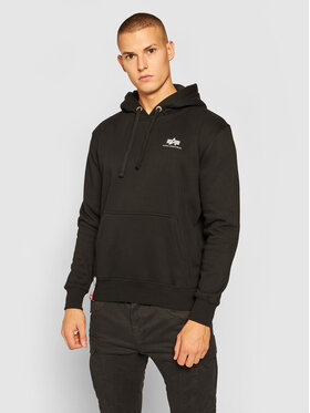 Alpha Industries Alpha Industries Bluza Basic Hoody Small Logo 196318 Czarny Regular Fit