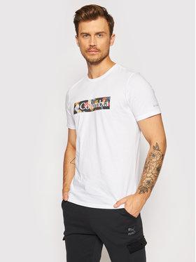 Columbia Columbia T-Shirt Rapid Ridge ™ Graphic 1888813 Biały Regular Fit