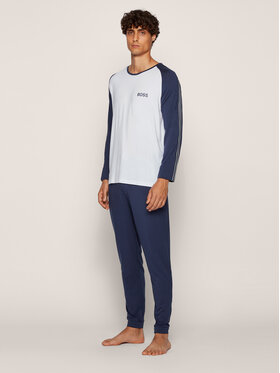 Boss Boss Pyjama Refined Long Set 50437213 Bleu marine