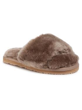 Mou Mou Klapki Sheepskin Fur Slide Slipper FW161001L Brązowy