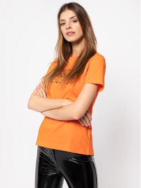 Diesel Diesel T-Shirt T-Sily-S6 00SEMF 0HERA Pomarańczowy Regular Fit