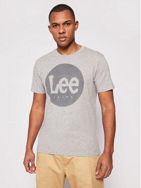 Lee Lee T-Shirt Circle L64EFQ37 Szary Regular Fit