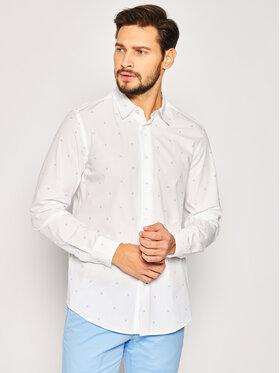 Calvin Klein Calvin Klein Koszula Monogram Print K10K105291 Biały Regular Fit