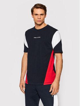 Tommy Hilfiger Tommy Hilfiger T-Shirt Blocked Seasonal MW0MW19764 Granatowy Regular Fit