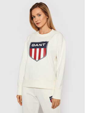 Gant Gant Bluza Retro Shield 4204562 Beżowy Relaxed Fit