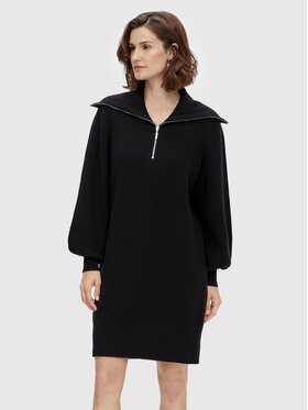 YAS YAS Плетена рокля Dalma 26024412 Черен Regular Fit