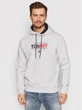 Tommy Jeans Tommy Jeans Pulóver Tjm Essential Graphic DM0DM11630 Szürke Regular Fit