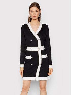 Fracomina Fracomina Džemper haljina FR21WD5008K42101 Crna Regular Fit