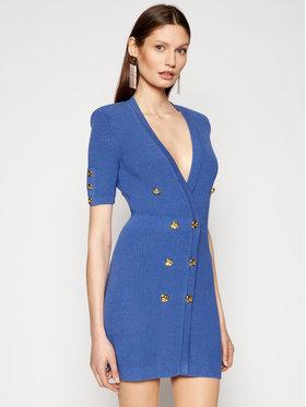Elisabetta Franchi Elisabetta Franchi Sukienka dzianinowa AM-05S-11E2-V440 Niebieski Slim Fit