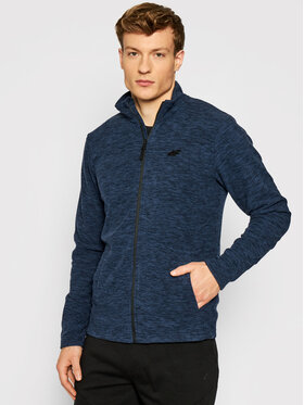 4F 4F Fliso džemperis NOSH4-PLM001 Tamsiai mėlyna Regular Fit