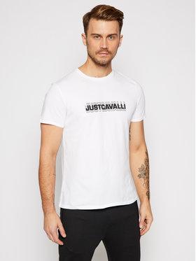 Just Cavalli Just Cavalli T-Shirt S01GC0644 Biały Regular Fit