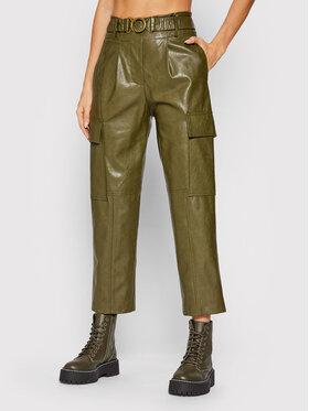 Fracomina Fracomina Панталони от имитация на кожа F321WV5001E40201 Зелен Regular Fit