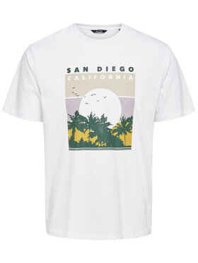 Only & Sons ONLY & SONS T-shirt Anthony 22019297 Blanc Regular Fit