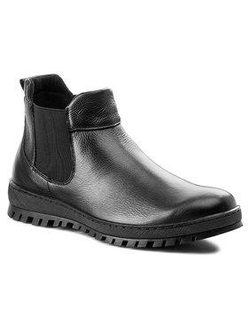Gino Rossi Gino Rossi Kotníková obuv s elastickým prvkem Radar MSV584-K56-1700-9900-F Černá