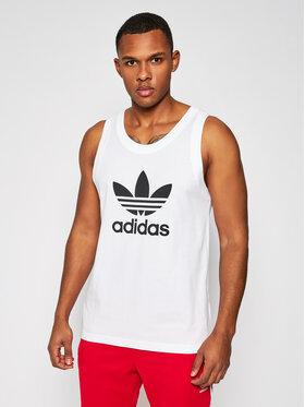 adidas adidas Tank top marškinėliai Trefoil DV1508 Balta Regular Fit