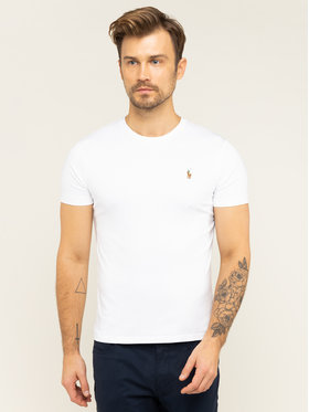 Polo Ralph Lauren Polo Ralph Lauren T-Shirt 710740727 Biały Custom Slim Fit