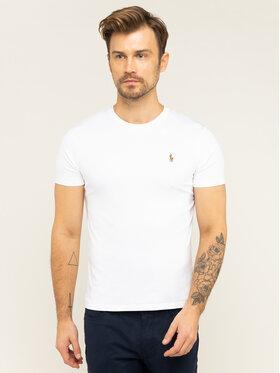 Polo Ralph Lauren Polo Ralph Lauren T-shirt 710740727 Blanc Custom Slim Fit