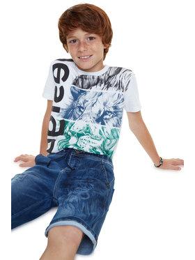Desigual Desigual Szorty jeansowe Sanz 20SBDD05 Granatowy Regular Fit