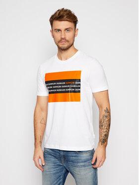 Calvin Klein Calvin Klein T-shirt Contrast Text Box Chest K10K106366 Blanc Regular Fit