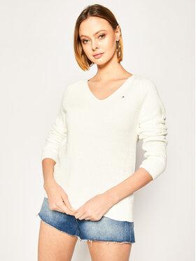 Tommy Hilfiger Tommy Hilfiger Sweater Hayana V-Nk WW0WW27730 Fehér Regular Fit