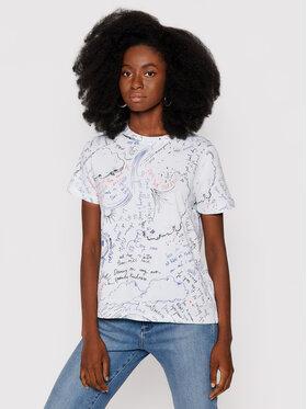 Desigual Desigual T-shirt Elizabeth Fry 21WWTK80 Bijela Regular Fit