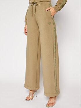 Guess Guess Текстилни панталони Scuba O1RA57 K7UW0 Зелен Oversize