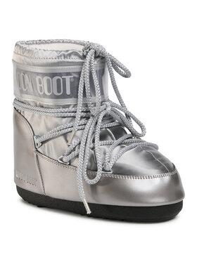 Moon Boot Moon Boot Μπότες Χιονιού Classic Low Glance 14093500002 Ασημί