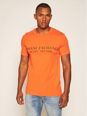 Armani Exchange Armani Exchange T-Shirt 8NZT72 Z8H4Z 1439 Oranžová Regular Fit