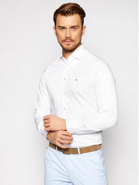 Tommy Hilfiger Tailored Tommy Hilfiger Tailored Chemise Solid MW0MW16489 Blanc Slim Fit