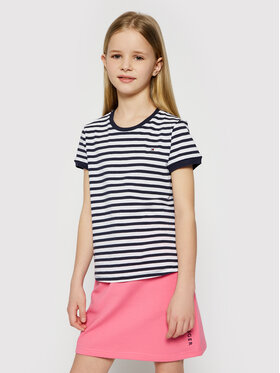 Tommy Hilfiger Tommy Hilfiger T-Shirt Essential Stripe KG0KG05766 D Granatowy Regular Fit