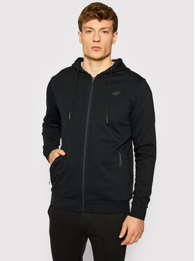 4F 4F Sweatshirt H4L21-BLM016 Schwarz Regular Fit