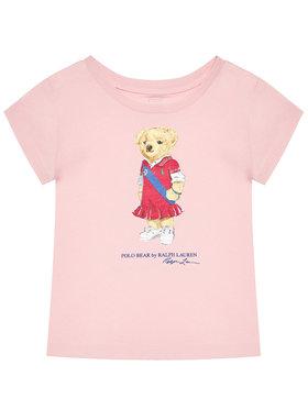 Polo Ralph Lauren Polo Ralph Lauren Marškinėliai Bear 312838265002 Rožinė Regular Fit